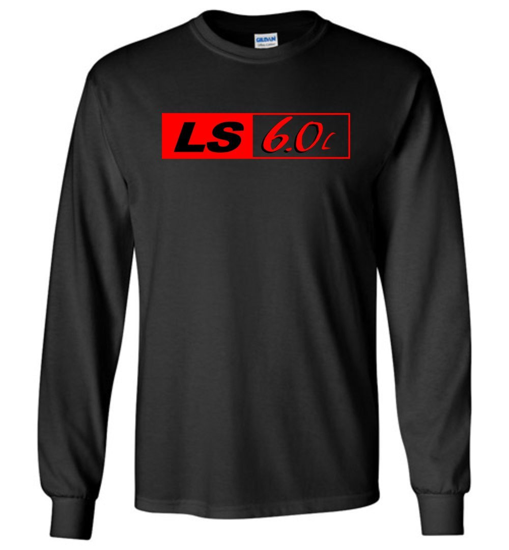 LS GM 6.0 Motor Long Sleeve T-Shirt - Aggressive Thread Diesel Truck T-Shirts
