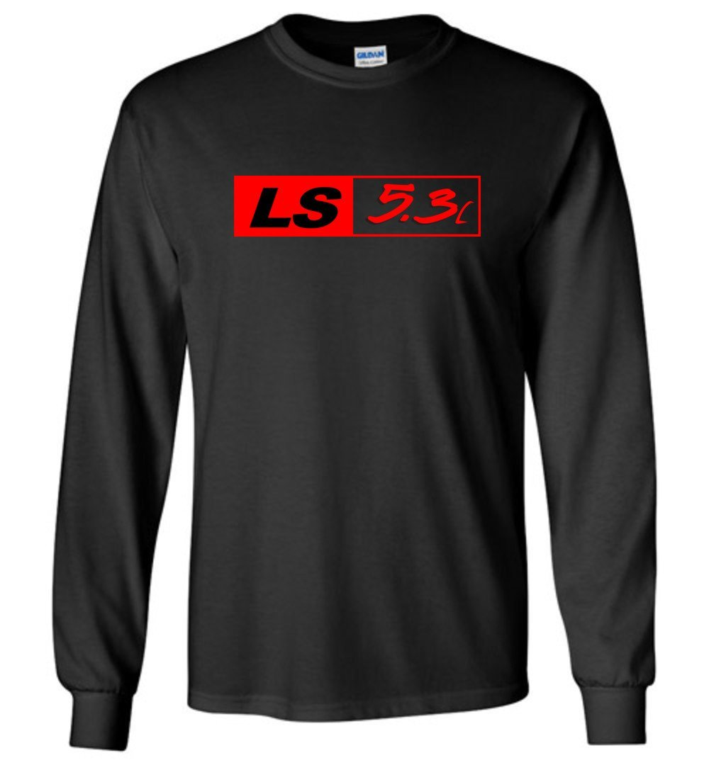 LS GM 5.3 Motor Long Sleeve T-Shirt - Aggressive Thread Diesel Truck T-Shirts
