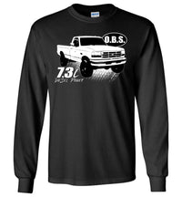 OBS Super Duty Single Cab 7.3 Diesel Powerstroke Long Sleeve T-Shirt - Aggressive Thread Diesel Truck T-Shirts