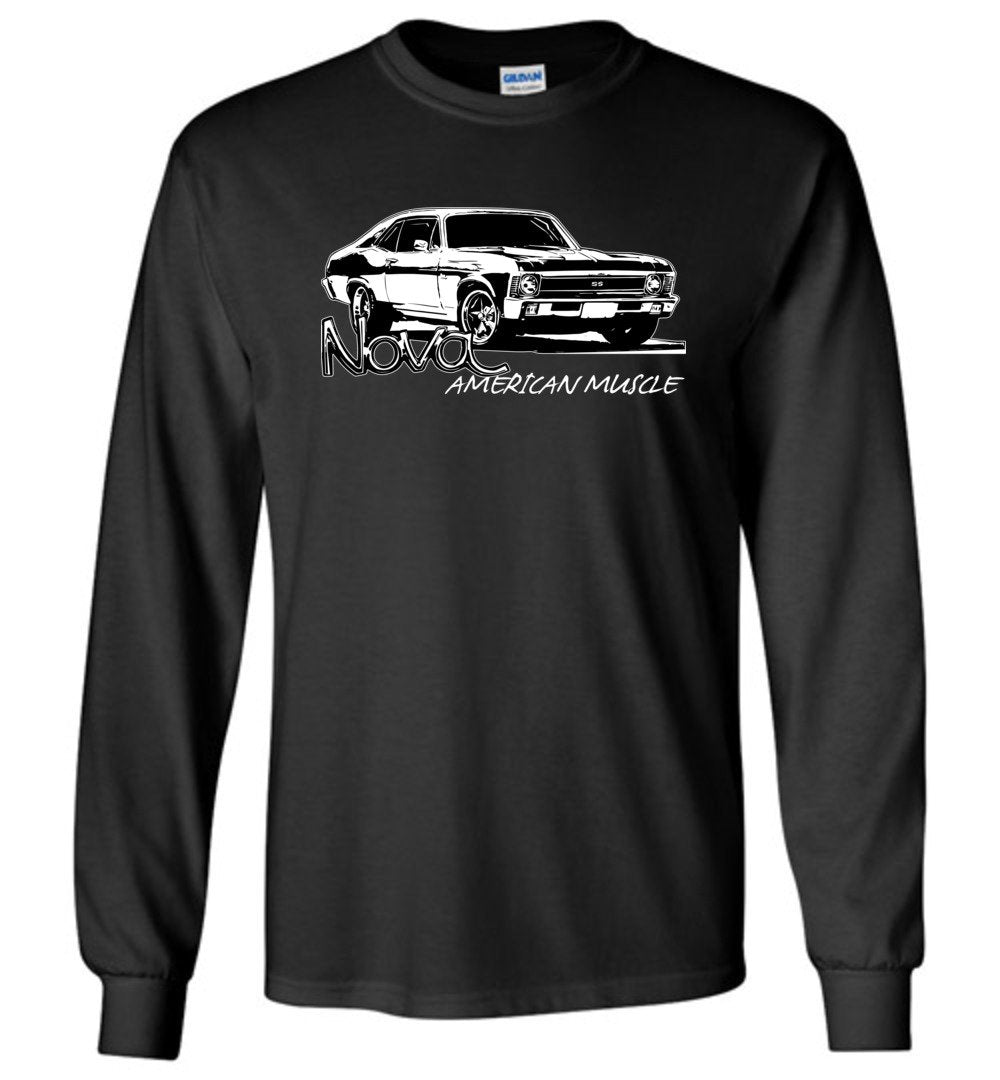Chevy Nova Long Sleeve T-Shirt | 1968-1972 Nova SS | Aggressive thread Muscle Car Apparel