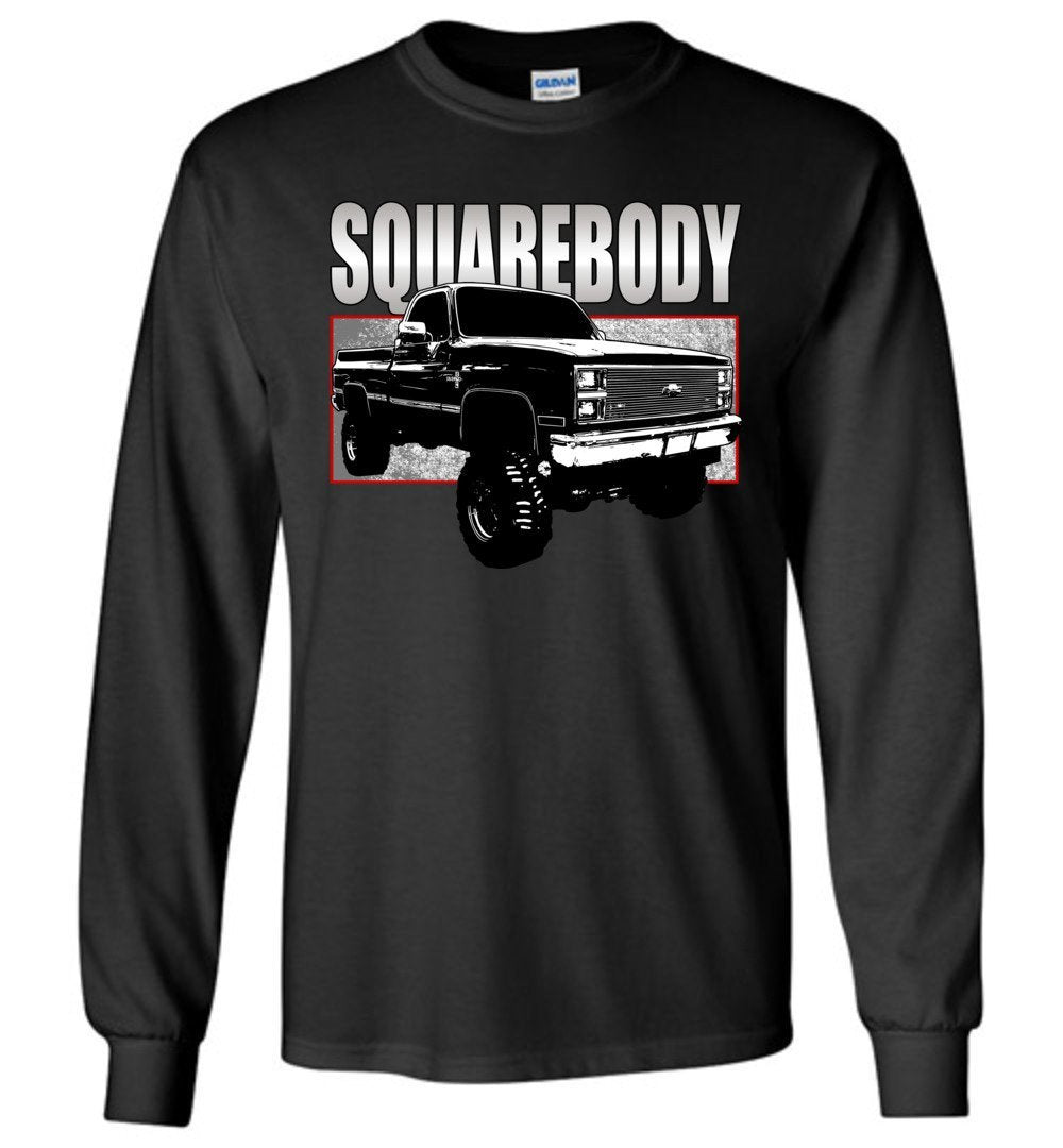 80s Squarebody Chevy Square Body 4x4 Long Sleeve T-Shirt