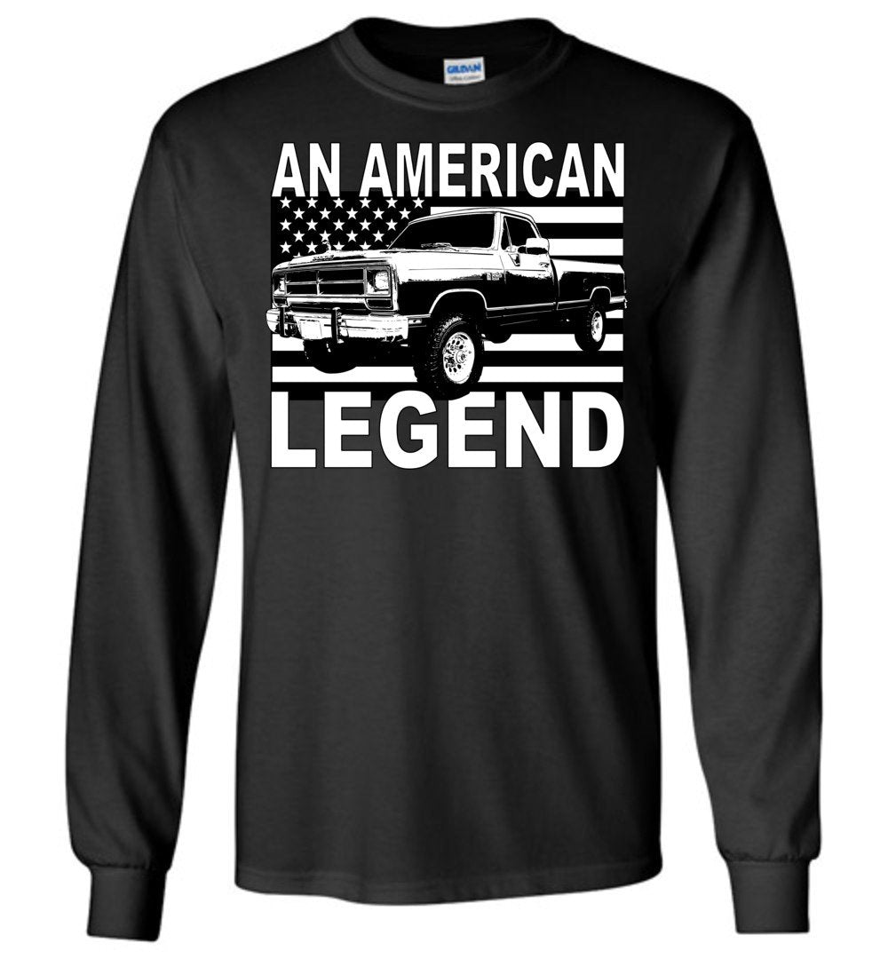 First Gen Dodge Ram An American Legend Long Sleeve T-Shirt