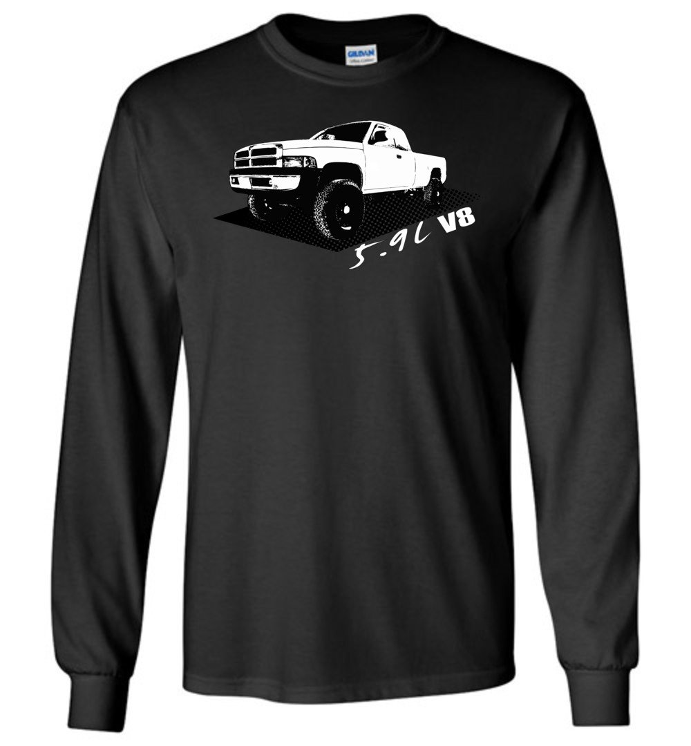 Second Gen Dodge Ram Long Sleeve T-Shirt - Aggressive Thread Truck Apparel