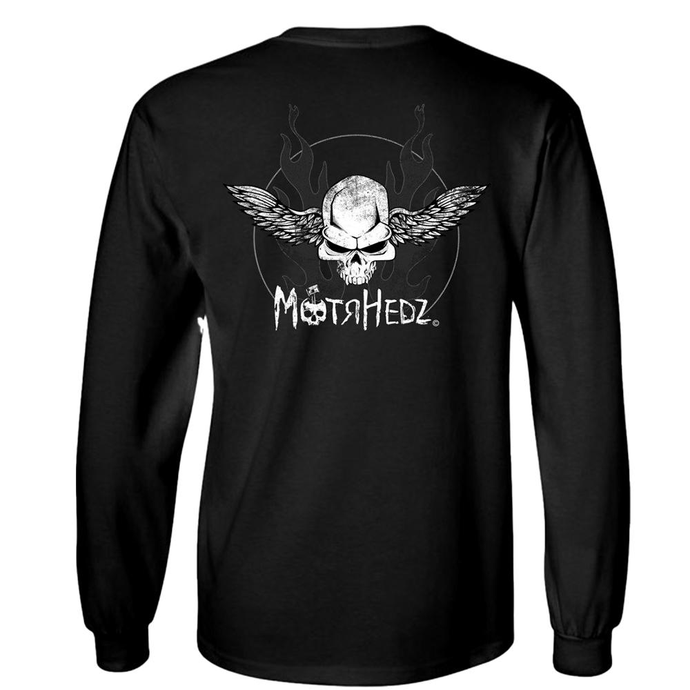 MotrHedz Skull & Wings Long Sleeve T-Shirt