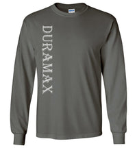 Grey Duramax LLY Diesel Truck Shirt from Aggressive Thread