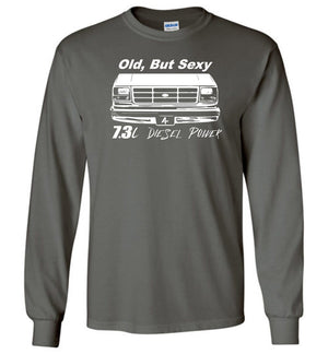OBS Powerstroke 7.3l Diesel Power Long Sleeve T-Shirt - Aggressive Thread Diesel Truck T-Shirts