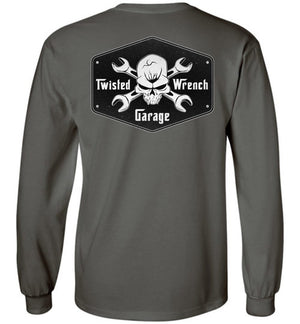 Twisted Wrench Garage Mechanic Long Sleeve T-Shirt