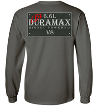 Grey Duramax LB7 Diesel Truck Shirt from Aggressive Thread