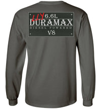 Grey Duramax LLY Diesel Truck Shirt from Aggressive Thread Truck Apparel