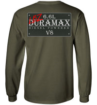 Green Duramax LBZ Diesel Truck Shirt from Aggressive Thread