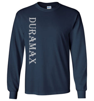 Navy Blue Duramax LBZ Diesel Truck Shirt from Aggressive Thread