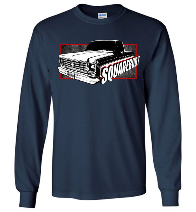 Round Eye Squarebody Chevy C10  Long Sleeve T-Shirt