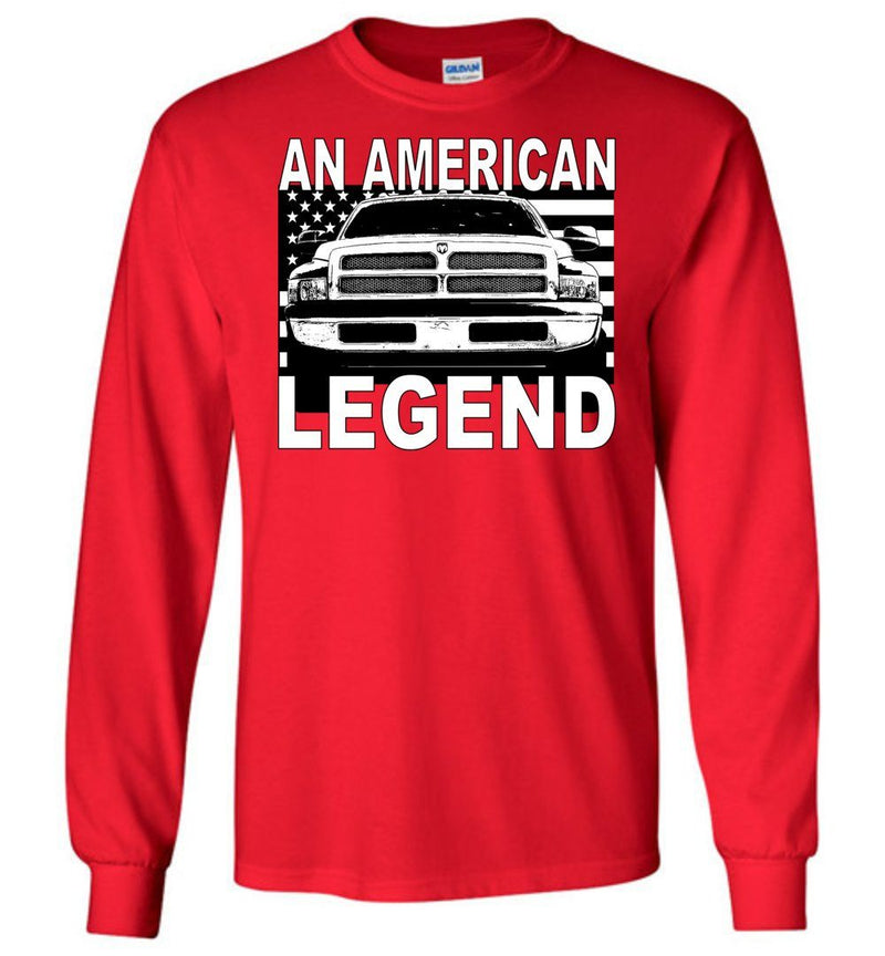 1994-2002 Dodge Ram Long Sleeve T-Shirt - Aggressive Thread Truck Apparel Designs