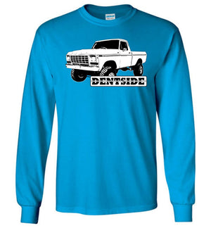 Dentside 4x4 Pickup Long Sleeve T-Shirt - Aggressive Thread Diesel Truck T-Shirts