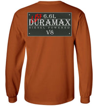 Orange Duramax LB7 Diesel Truck Shirt from Aggressive Thread