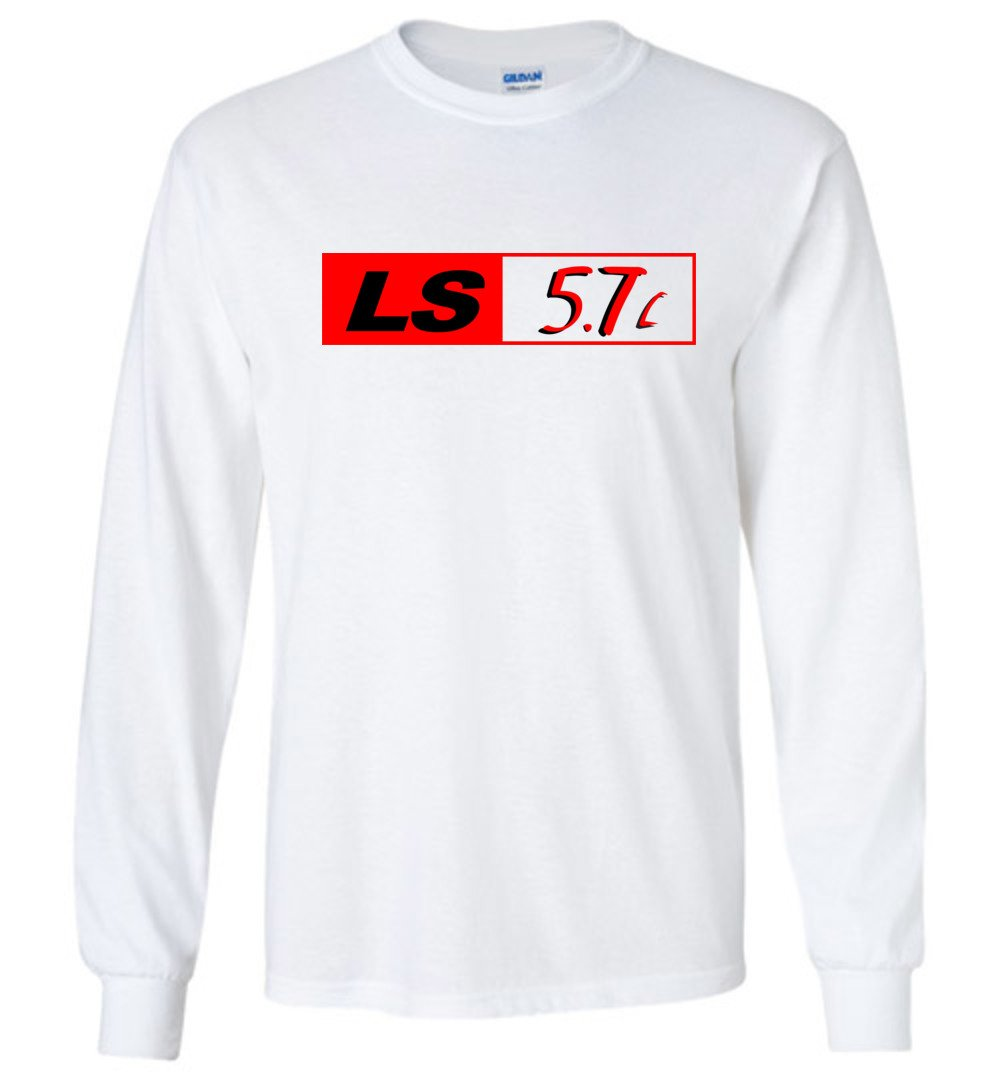 LS GM 5.7 Motor Long Sleeve T-Shirt - Aggressive Thread Diesel Truck T-Shirts