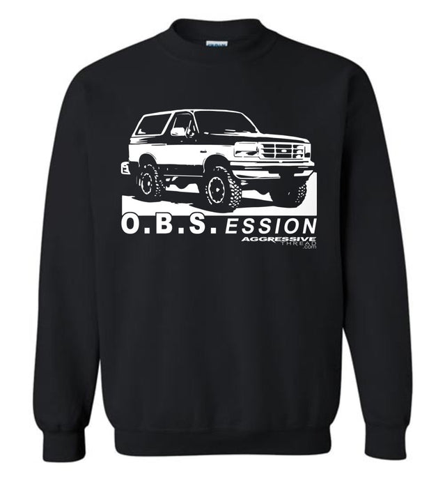 Ford OBS Bronco Sweatshirt - Aggressive Thread Diesel Truck T-Shirts