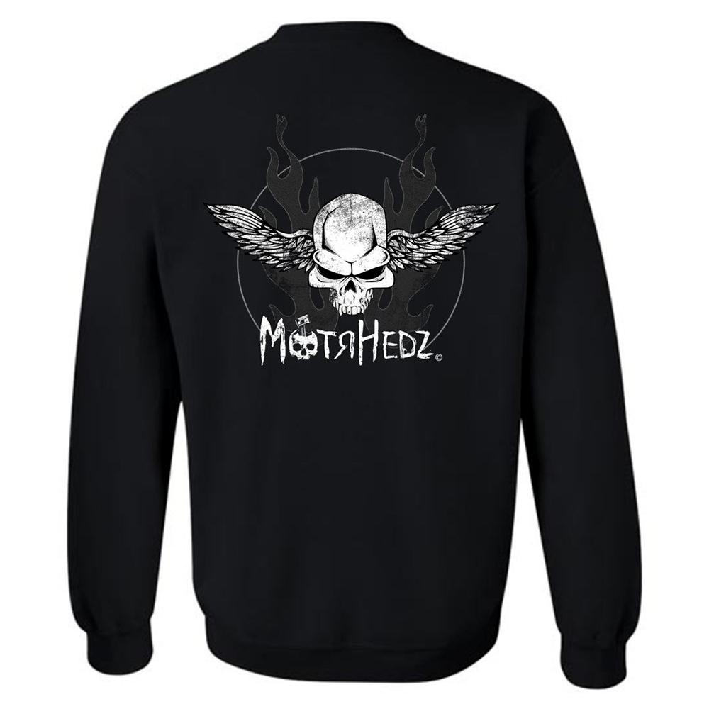 MotrHedz Skull & Wings Sweatshirt