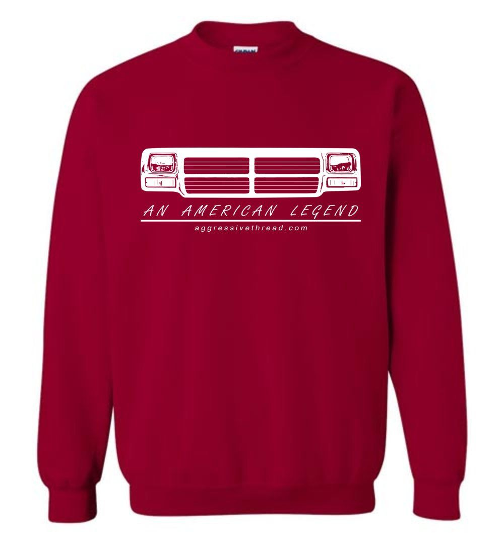 First Gen Dodge Ram Sweatshirt - Aggressive Thread Diesel Truck T-Shirts