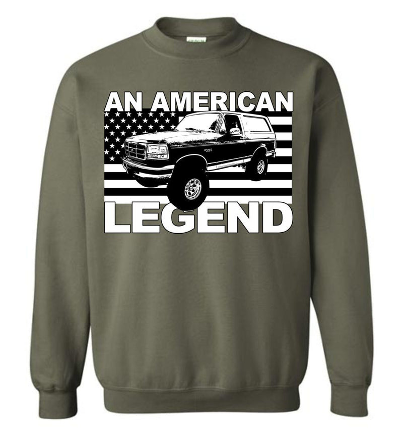 1988-1997 Ford Bronco Hoodie Sweatshirt from Aggressive Thread