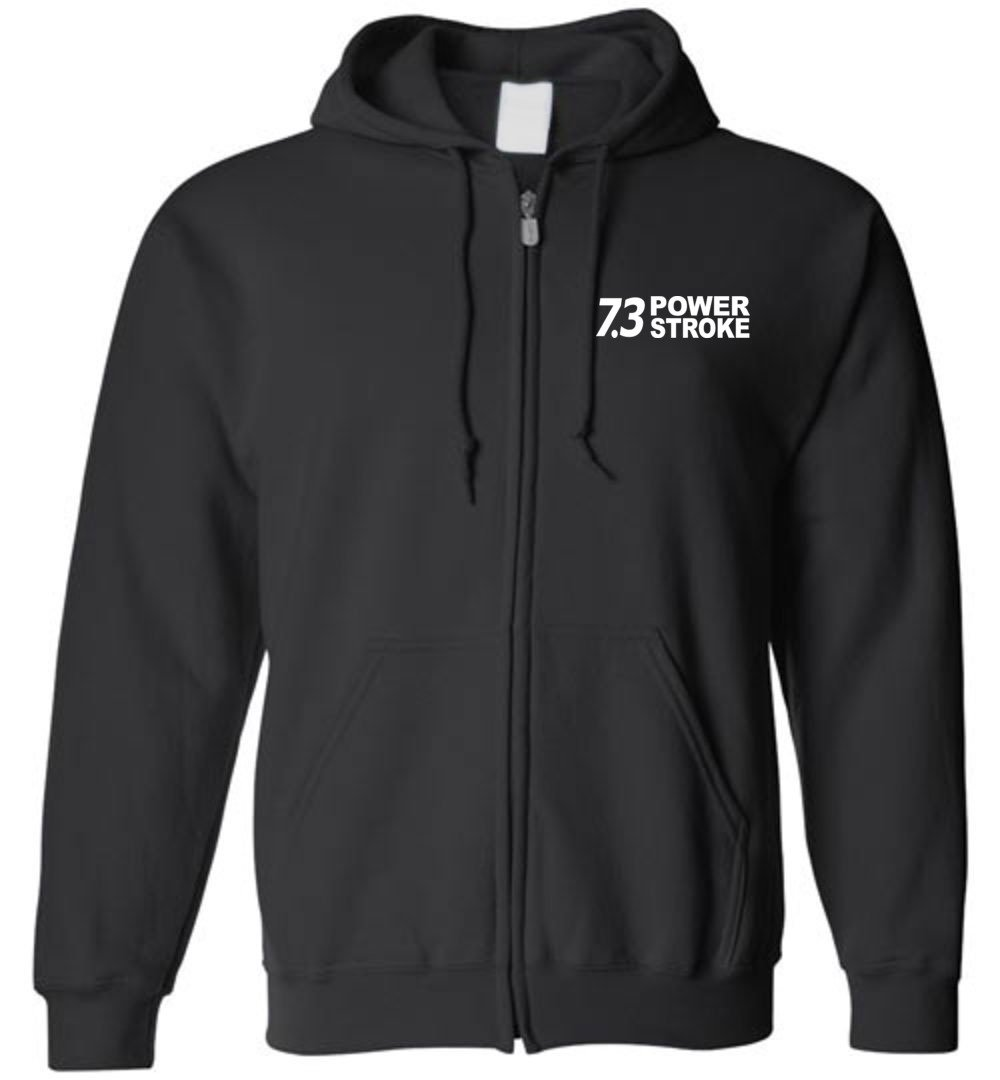 7.3 Powerstroke Power Stroke Size Matters Zip-Up Hoodie Sweatshirt