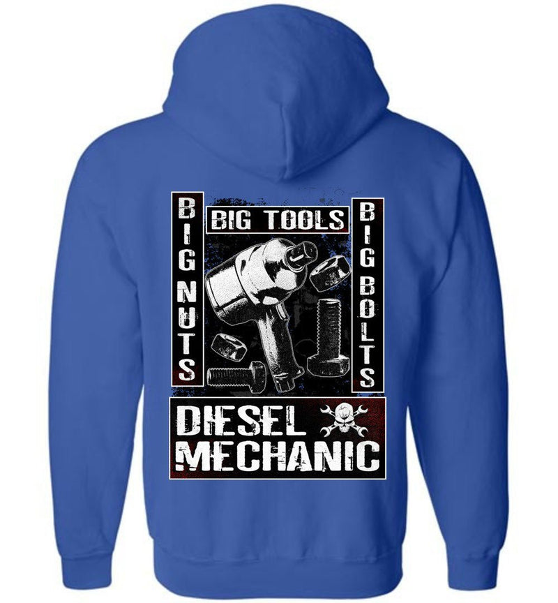 Diesel Mechanic Hoodie Sweatshirt | Aggressive Thread Mechanic Apparel