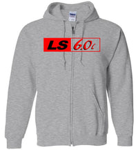LS GM 6.0 Motor ZIP-UP Hoodie Sweatshirt - Aggressive Thread Diesel Truck T-Shirts