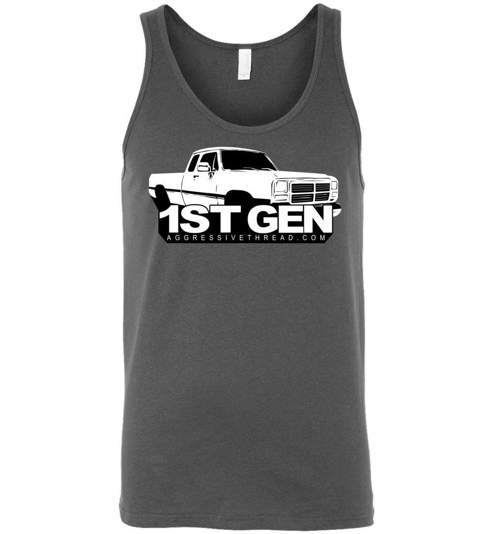 first gen Dodge Ram Truck Tank Top - Aggressive Thread Diesel Truck T-Shirts