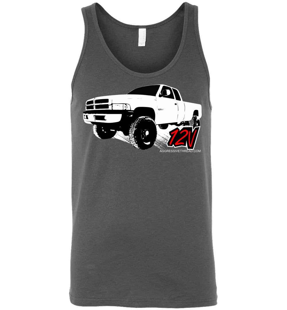 Second Gen Dodge Ram 12V Cummins Tank Top - Aggressive Thread Diesel Truck T-Shirts