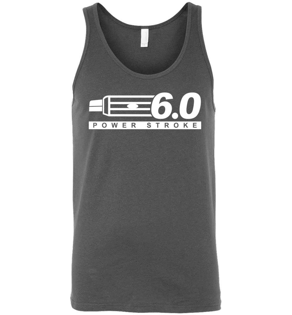 Powerstroke Power Stroke 6.0 With Grille Tank Top - Aggressive Thread Diesel Truck T-Shirts
