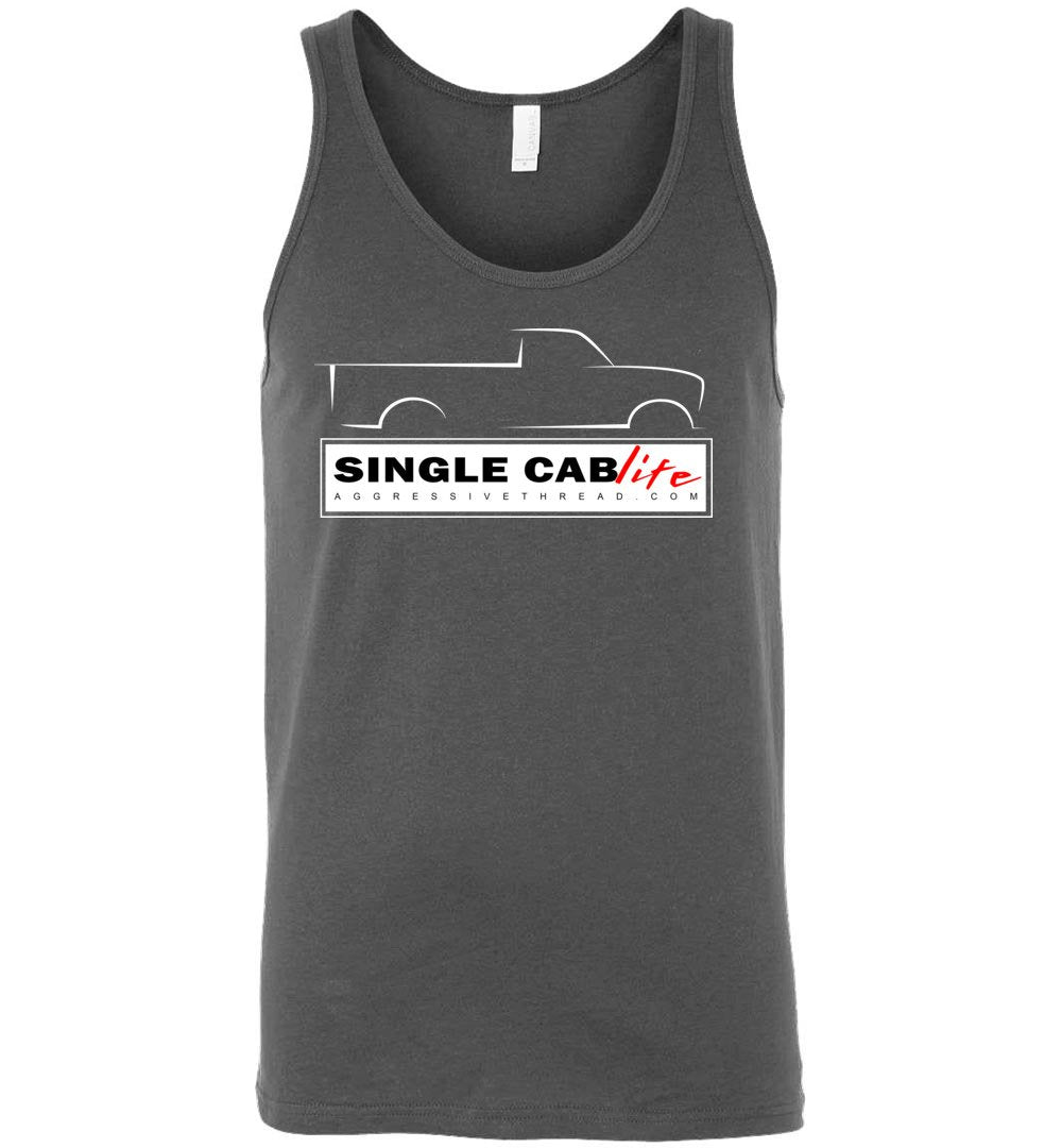 Single Cab Life Tank Top - Aggressive Thread Diesel Truck T-Shirts