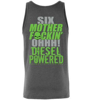 6.0 Six MF'N OHH! Tank Top - Aggressive Thread Diesel Truck T-Shirts