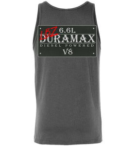 Aggressive Thread LBZ Duramax Grey Tank Top Diesel Truck Apparel