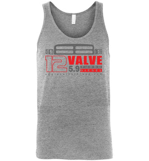 12 Valve Second Gen Turbo Diesel Tank Top - Aggressive Thread Diesel Truck T-Shirts