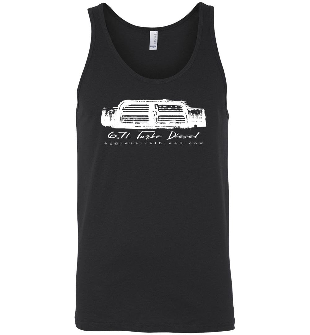6.7 Cummins Diesel Tank Top - Aggressive Thread Diesel Truck T-Shirts