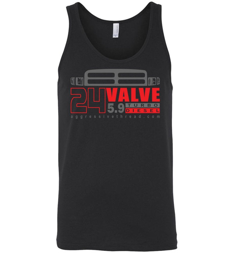 24 Valve Second Gen Turbo Diesel Tank Top - Aggressive Thread Diesel Truck T-Shirts