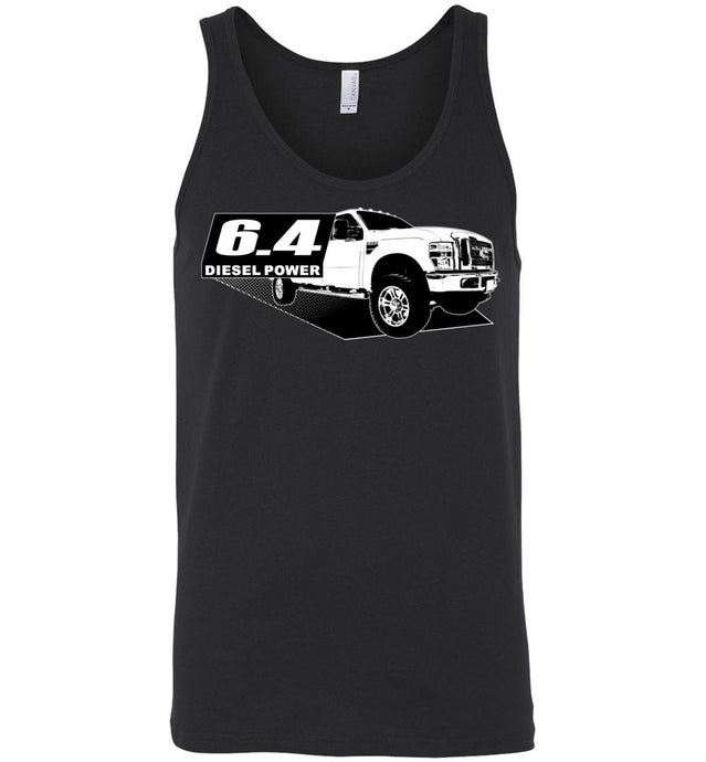 Power Stroke 6.4 Diesel Powerstroke Tank Top Shirt From Aggressive Thread Apparel