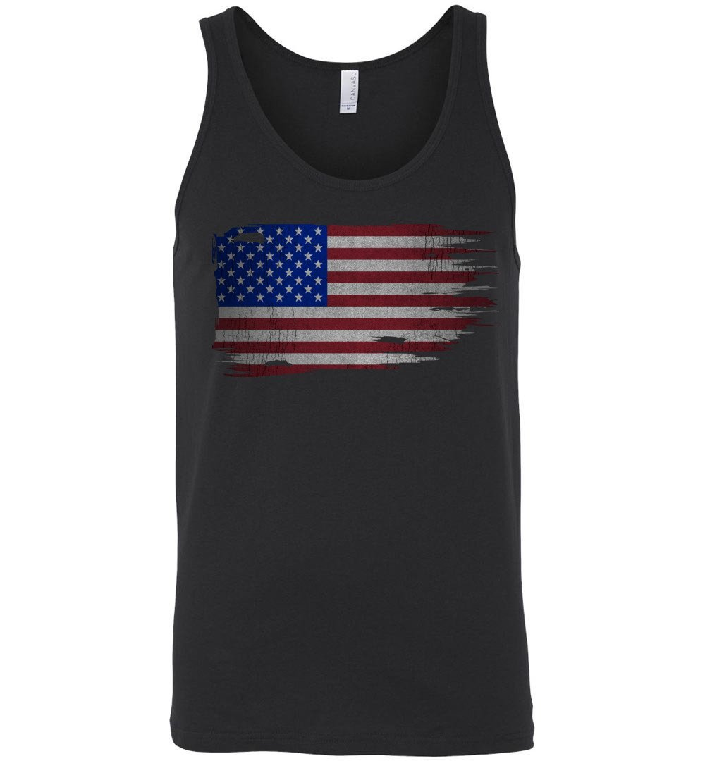Distressed American Flag Tank Top