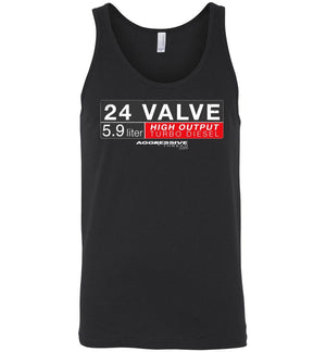 24 Valve Turbo Diesel Tank Top - Aggressive Thread Diesel Truck T-Shirts