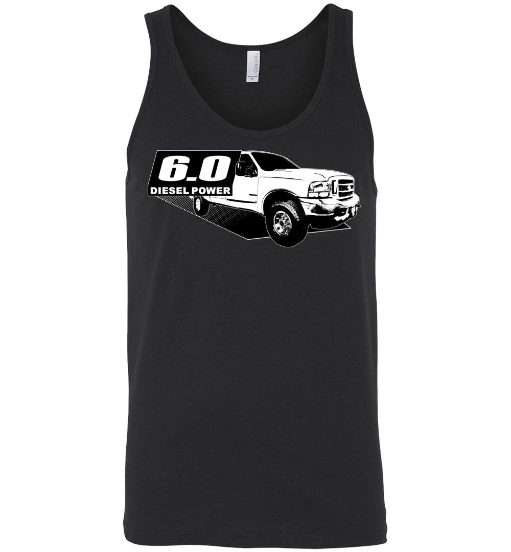 Power Stroke 6.0 Diesel Powerstroke Tank Top Shirt From Aggressive Thread Apparel