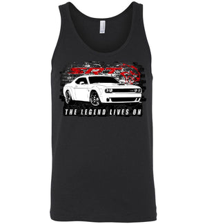 Dodge Challenger Demon Tank Top | Aggressive Thread Muscle Car Apparel