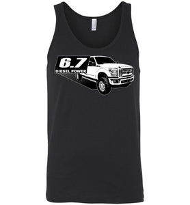 Power Stroke 6.7 Diesel Powerstroke Tank Top Shirt From Aggressive Thread Apparel