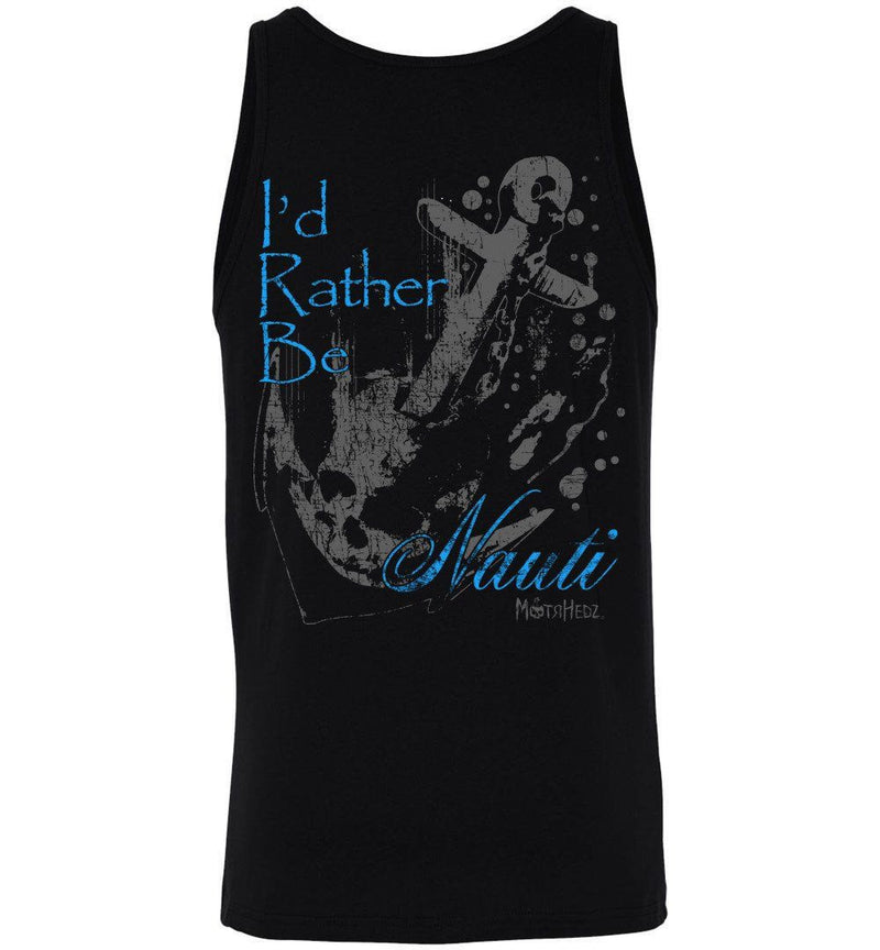 "MotrHedz - Boating Tank Top ""I'd Rather Be Nauti"""