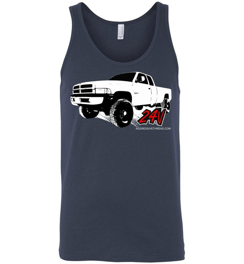 24v Second Gen Dodge Tank Top - Aggressive Thread Diesel Truck T-Shirts