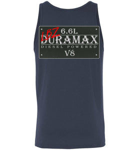 Aggressive Thread LBZ Duramax Navy Blue Tank Top Diesel Truck Apparel