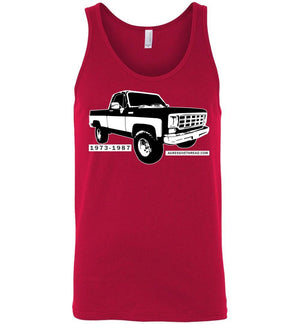 Squarebody Square Body 1973-1987 Tank Top - Aggressive Thread Diesel Truck T-Shirts