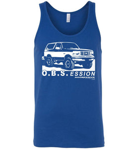 Ford OBS Bronco Tank Top Shirt - Aggressive Thread Diesel Truck T-Shirts