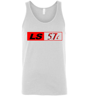 LS GM 5.7 Motor Tank Top - Aggressive Thread Diesel Truck T-Shirts