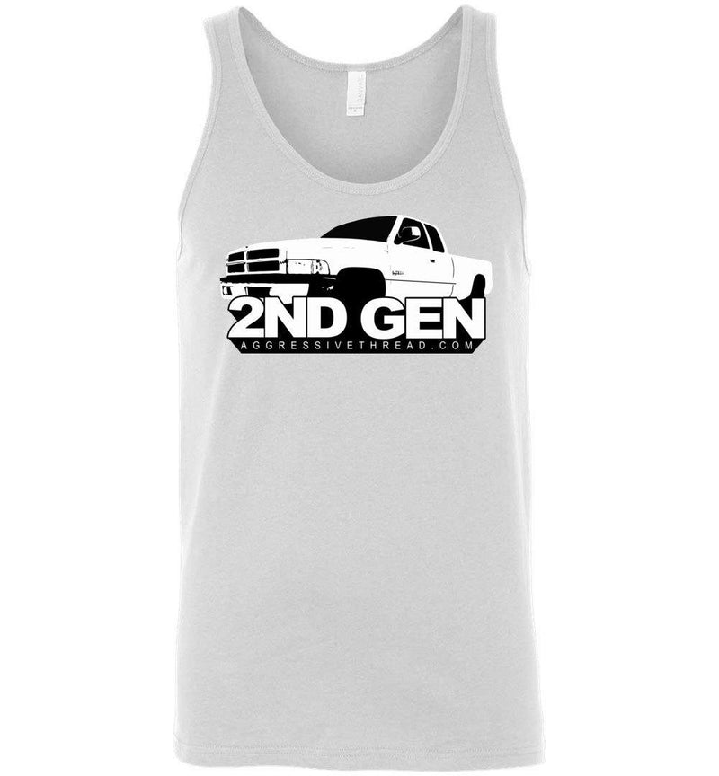 2ND Second Gen 1994-2002 Dodge Ram Truck Tank Top - Aggressive Thread Diesel Truck T-Shirts
