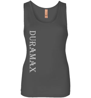 Grey LLY Duramax Diesel Truck Womens Tank Top From Aggressive Thread Truck Apparel